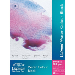 "Cotman Watercolour Paper Block - 140 lb Cold Press - 12"" X 16"""
