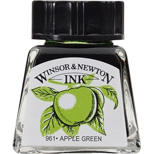 Winsor & Newton Drawing Ink - 14 ml bottle - Apple Green