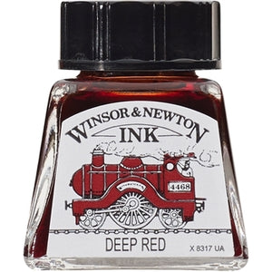 Winsor & Newton Drawing Ink - 14 ml bottle - Deep Red