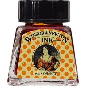 Winsor & Newton Drawing Ink - 14 ml bottle - Orange