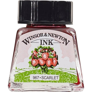 Winsor & Newton Drawing Ink - 14 ml bottle - Scarlet