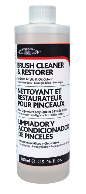 Winsor & Newton Brush Cleaner & Restorer - 16 oz.