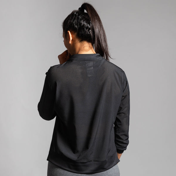 Perforated Crew Top