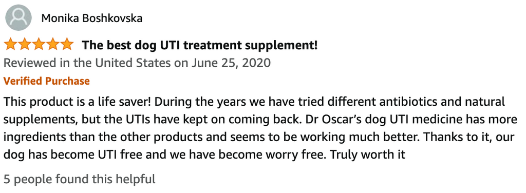 Dr Oscar Dog UTI Cranberry for Dogs D-Mannose for dogs review