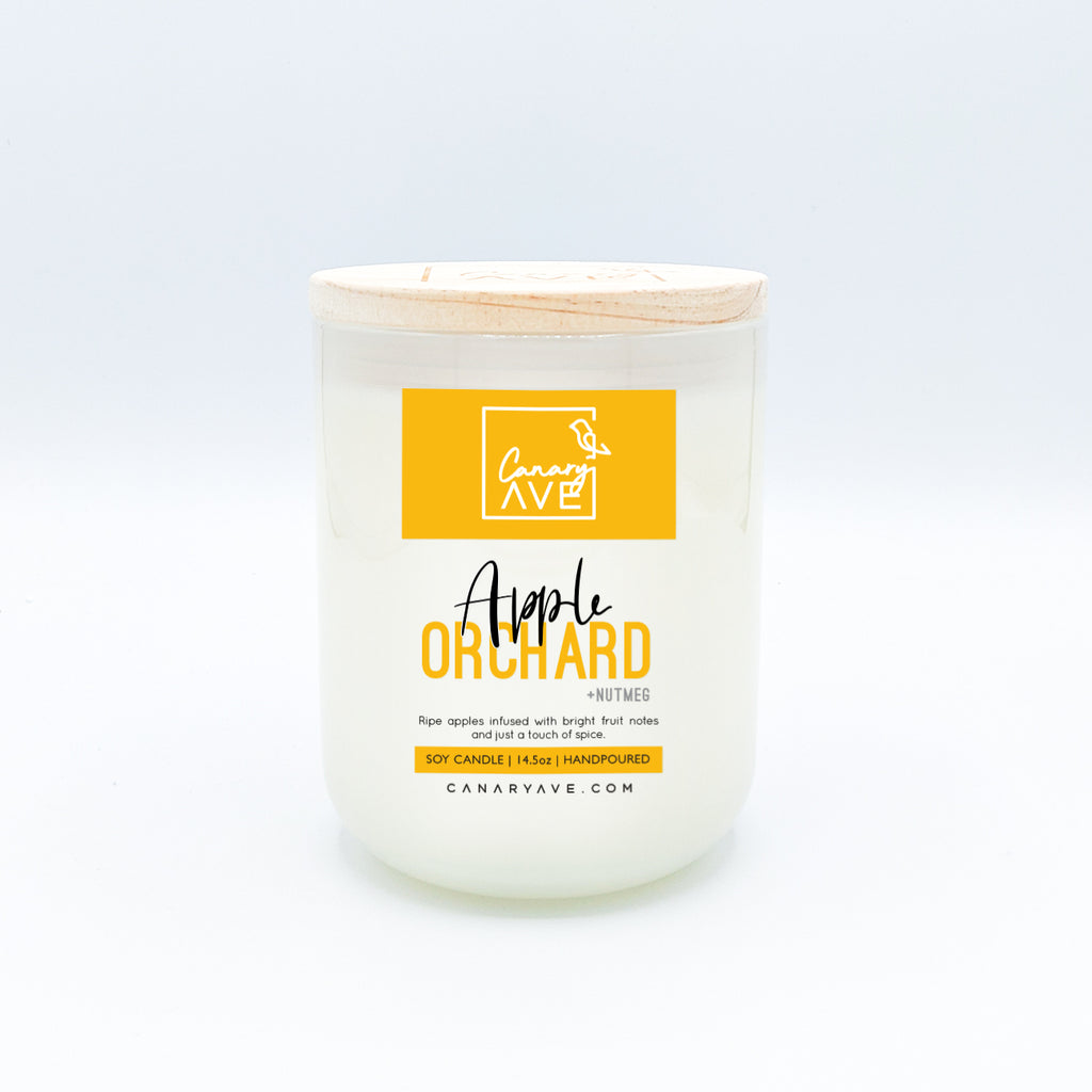 CanaryAve 14.5oz Apple Orchard Candle - Ripe apples infused with bright fruit notes and just a touch of spice.
