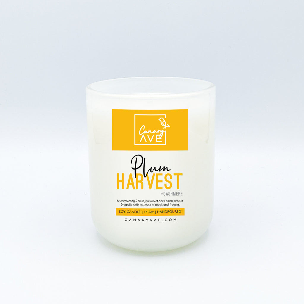 CanaryAve Plum Harvest 14 oz Candle