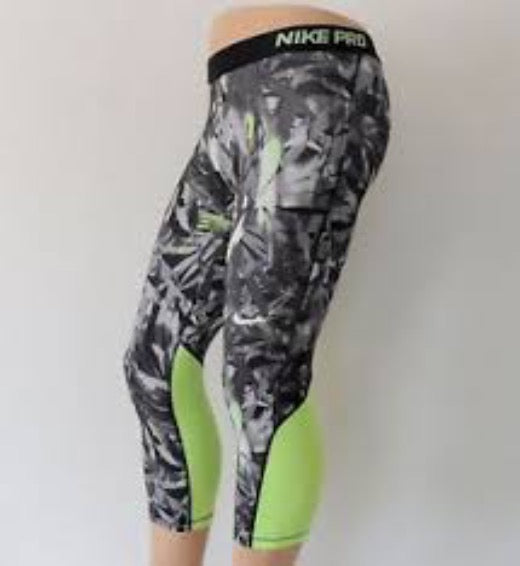 Nike Pro Women's Compression Pants! Cool Palm Printed Capris
