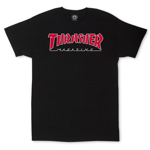 THRASHER MAG Outlined T-Shirt (Black)