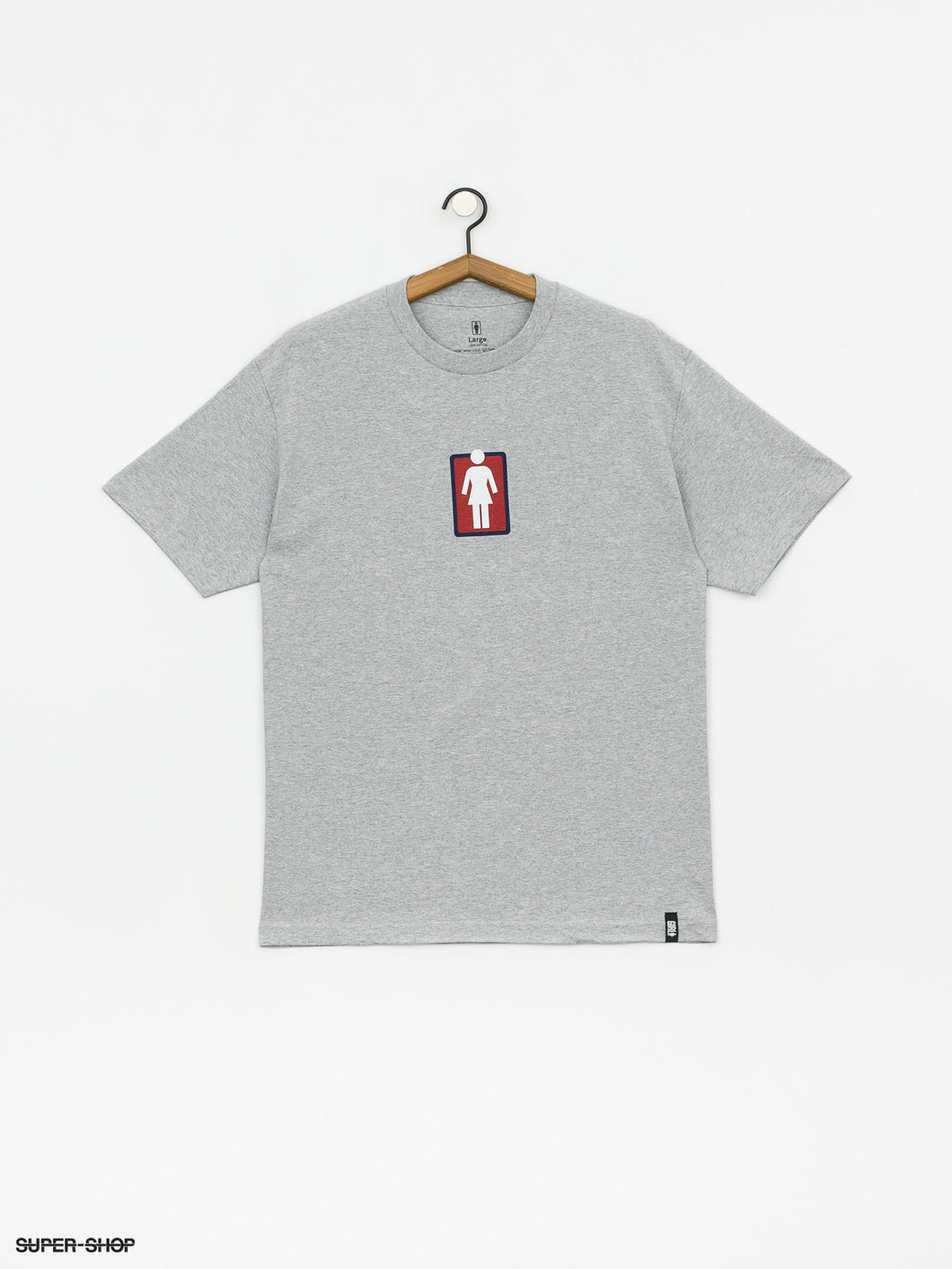 GIRL SKATEBOARDS OG SKATE GRAY SHIRT