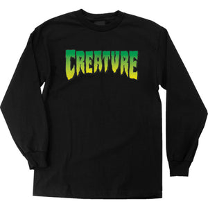 CREATURE LOGO LONG SLEEVE BLACK MENS