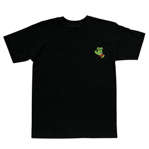 Santa Cruz TMNT Turtle Screaming Hand Shirt Blk W/Red