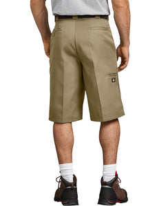"DICKIES WORK SHORT 13"" KHAKI LOOSE FIT MULTI-POCKET"