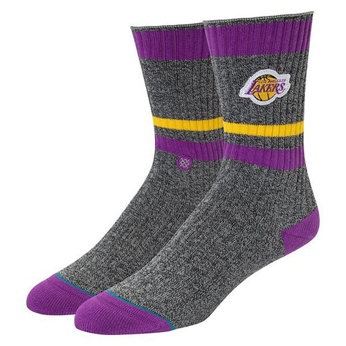 STANCE LAKERS BOOT SOCKS HEATHER GRAY