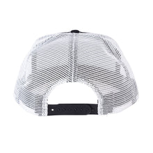 Load image into Gallery viewer, CREATURE SUPPORT LABEL MESH TRUCKER HAT BLACK/WHITE SNAPBACK