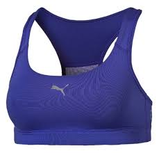 puma yogini cat bra blue depths