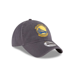 GOLDEN STATE WARRIORS NEW ERA HAT 9TWENTY GRAY HOOK & LOOP