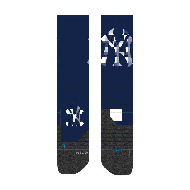 STANCE NEW YORK YANKEE BASEBALL SOCKS LG DIAMOND PRO LARGE NAVY