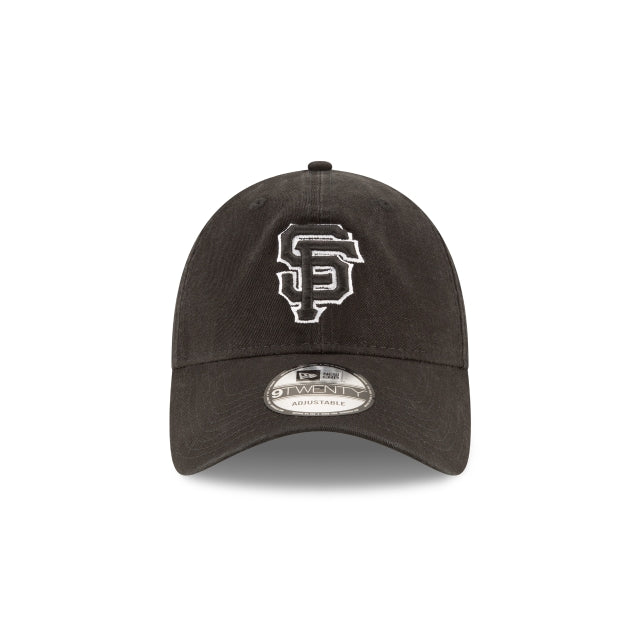 SAN FRANCISCO GIANTS NEW ERA HAT 9TWENTY BLACK HOOK & LOOP