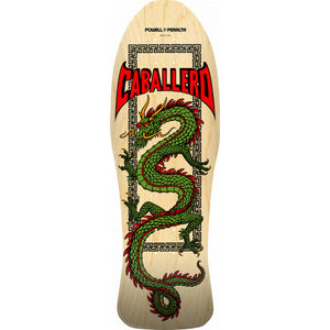 Powell Peralta Steve Caballero Chinese Dragon Natural Skateboard Deck - 10 x 30