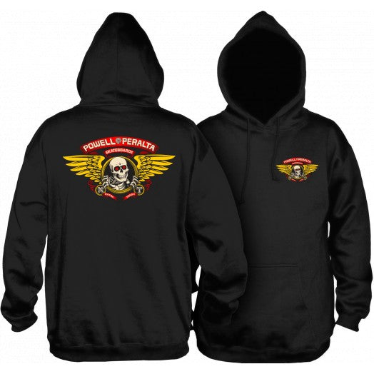 POWELL PERALTA WINGED RIPPER MID WEIGHT HOODIE BLACK