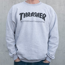 Load image into Gallery viewer, THRASHER SKATE MAG OUTLINE CREWNECK GRAY