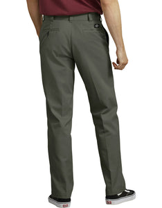 DICKIES '67 REGULAR FIT DOUBLE KNEE OLIVE GREEN WORK PANTS