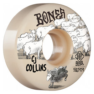 BONES WHEELS 50MM COLLINS BLACK SHEEP V3 SLIMS STF 99A