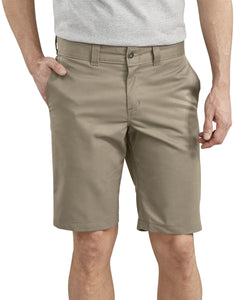 "DICKIES WORK SHORT '67 SLIM FIT FLEX 11"" KHAKI"