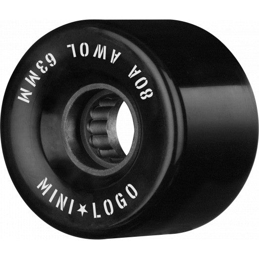 MINI LOGO CRUISER WHEELS 55/59/63MM 80A A.W.O.L BLACK 4PK
