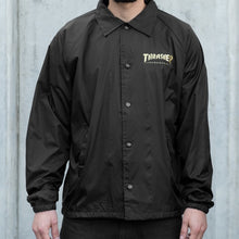 Load image into Gallery viewer, THRASHER PENTAGRAM COACH JACKET BLACK