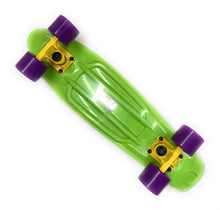 Load image into Gallery viewer, REKON MINI CRUISER GREEN WITH PURPLE WHEELS 22.5X6""