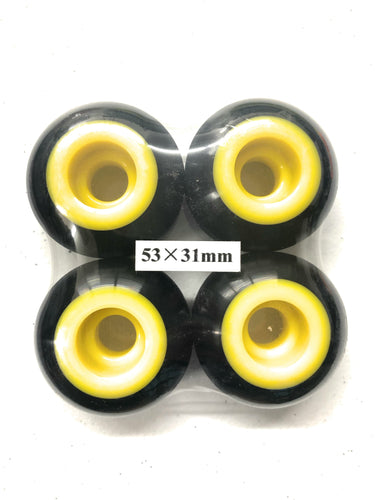 53MM SKATEBOARD DUAL DUROMETER WHEELS 100A