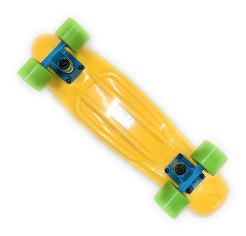 REKON MINI CRUISER YELLOW WITH GREEN WHEELS 22