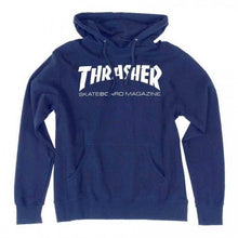 Load image into Gallery viewer, THRASHER SKATE MAG OUTLINE HOODIE NAVY