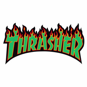 THRASHER FLAME LOGO STICKER LARGE