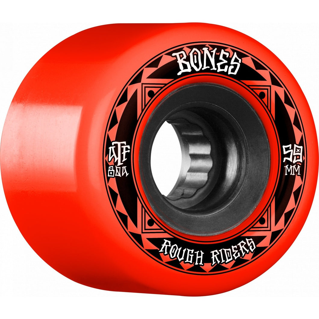 BONES WHEELS 59MM ROUGH RIDER RUNNERS RED ATF 80A