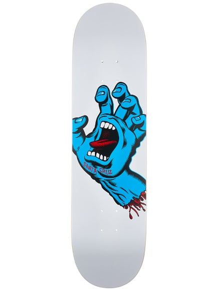SANTA CRUZ SCREAMING HAND W/ WHITE BACKROUND DECK - 8.25