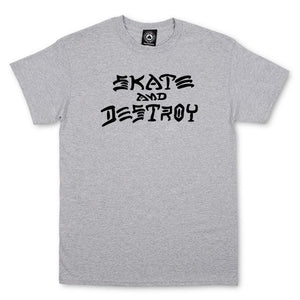 THRASHER SKATE AND DESTROY T-SHIRT GRAY
