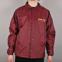 Load image into Gallery viewer, THRASHER PENTAGRAM COACH JACKET MAROON