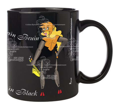 "Mandolin Rain Bruin ""Dangerous in Black"" Coffee Mug"