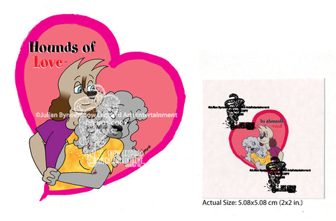 Hounds of Love Heart Temporary Tattoo