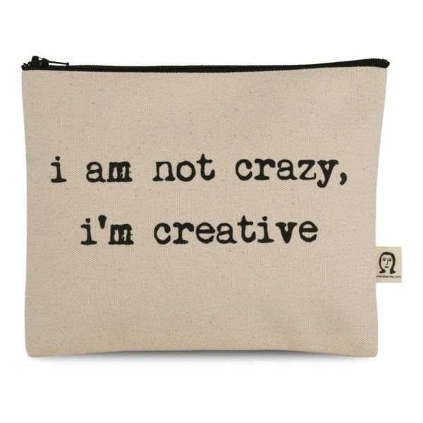 i'm not crazy i'm creative pouch (ポーチ)