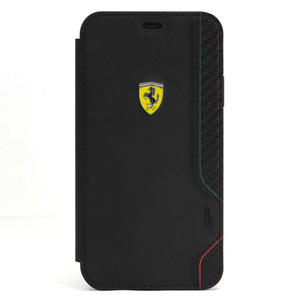 NEW - ON TRACK - RACING SHIELD - PU RUBBER SOFT TOUCH - CARBON - BLACK (手帳型ケース)