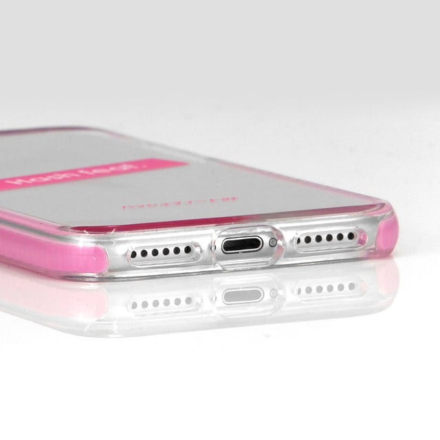 ANTI-SHOCK CLEAR CASE-SHELL PINK (耐衝撃クリアケース)
