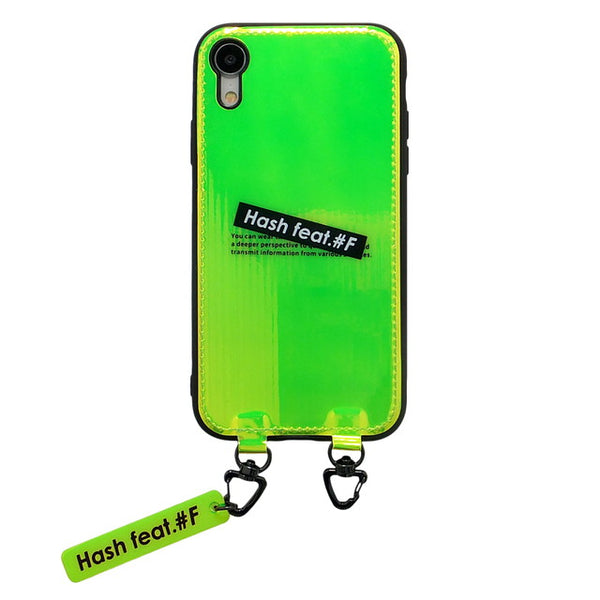 NIGHT GLOSS CASE-NEON GREEN (ハード型スマホケース)