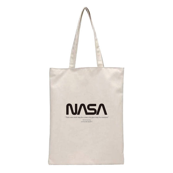 NASA CANVAS TOTE BAG LOGO_BLACK (トートバック)