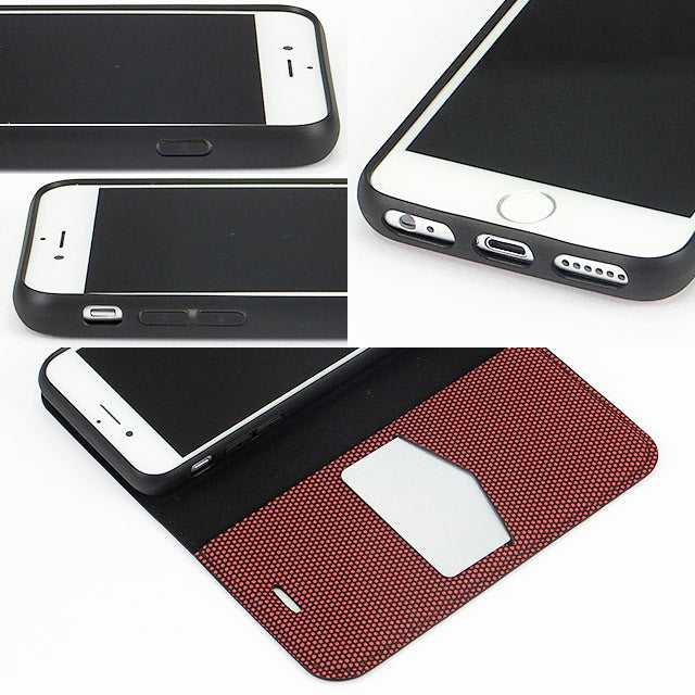2WAY CASE Neon_Red (手帳型ケース)