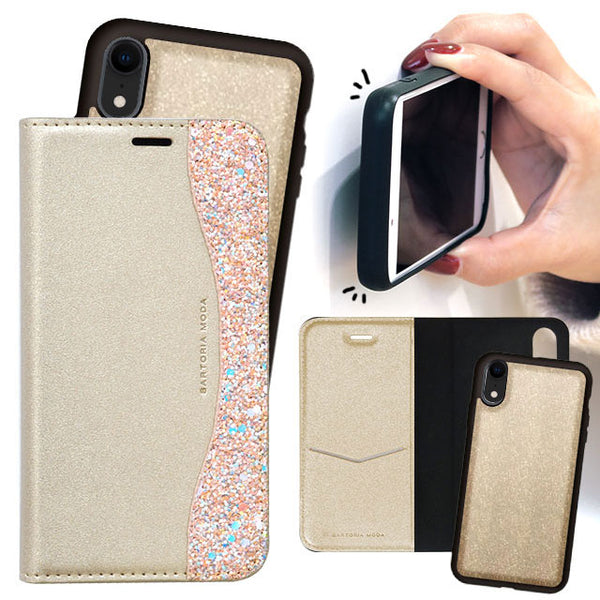 2WAY CASE Glitter_Gold (手帳型ケース)