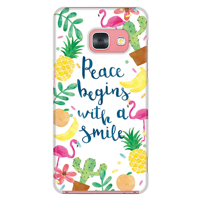 Pace begins with a smile (ハード型スマホケース)