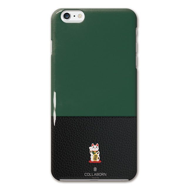 ONE POINT MANEKINEKO GREEN (ハード型スマホケース)